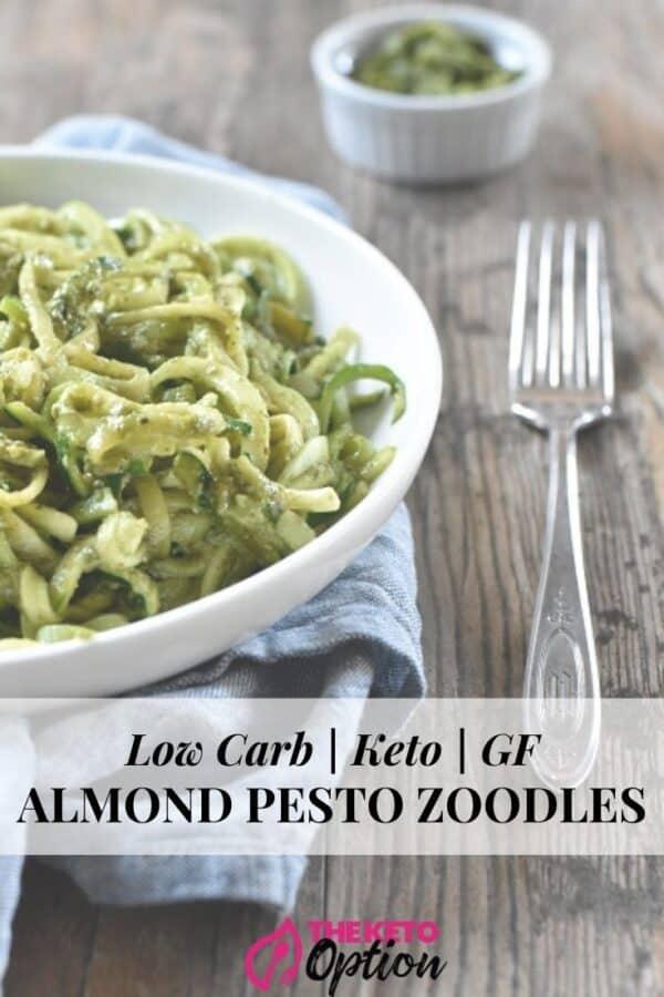 Keto Almond Pesto Zoodles