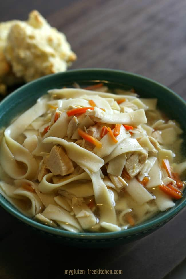 Gluten-free Slow Cooker Chicken Noodle Soup
