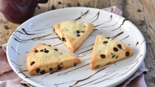 Chocolate Chip Gluten Free Scones { Keto | Low Carb }
