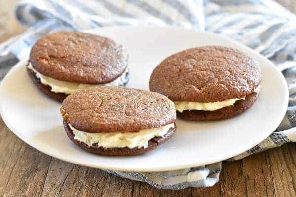 Gingerbread Whoopie Pies { Gluten Free }