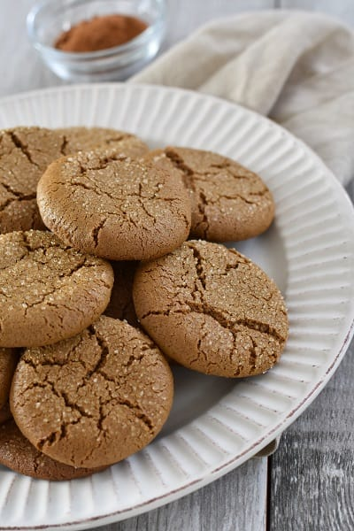 Low Carb Gluten Free Ginger Snaps