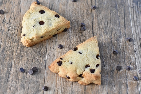 Keto Gluten Free Chocolate Chip Scones