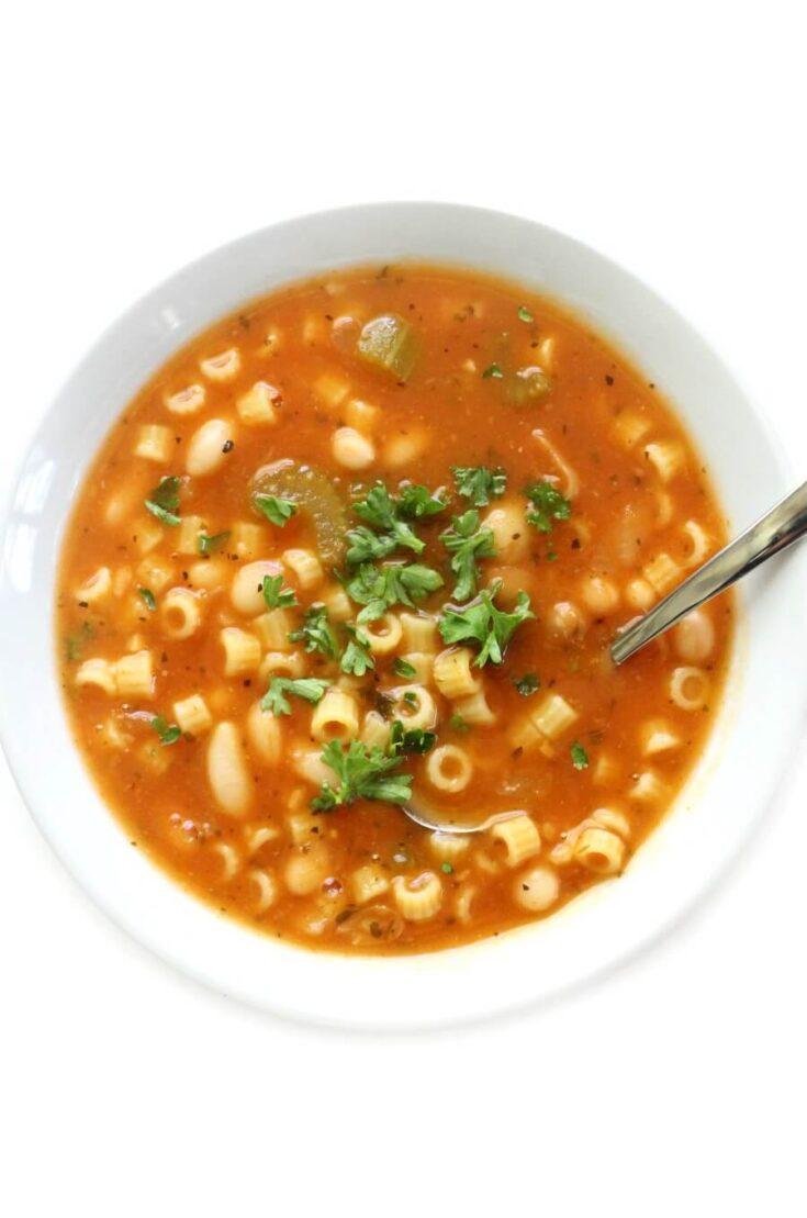Gluten-Free Pasta e Fagioli (Vegan, Allergy-Free) | Pasta & Bean Soup