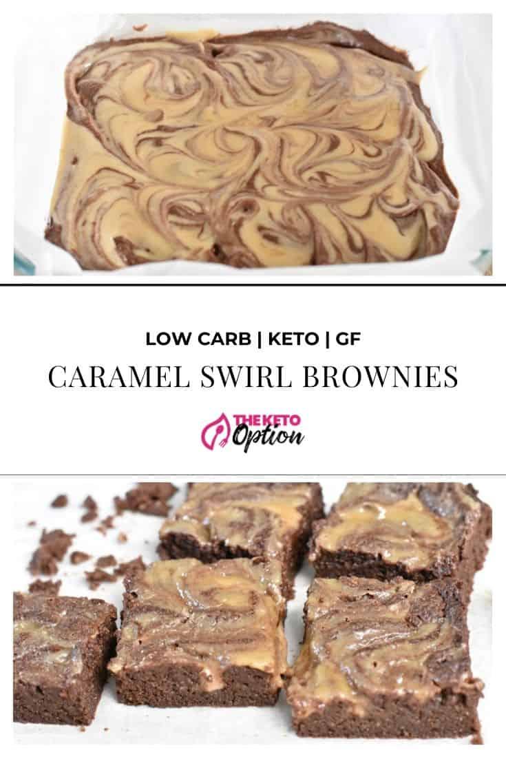 Keto Caramel Swirl Brownies