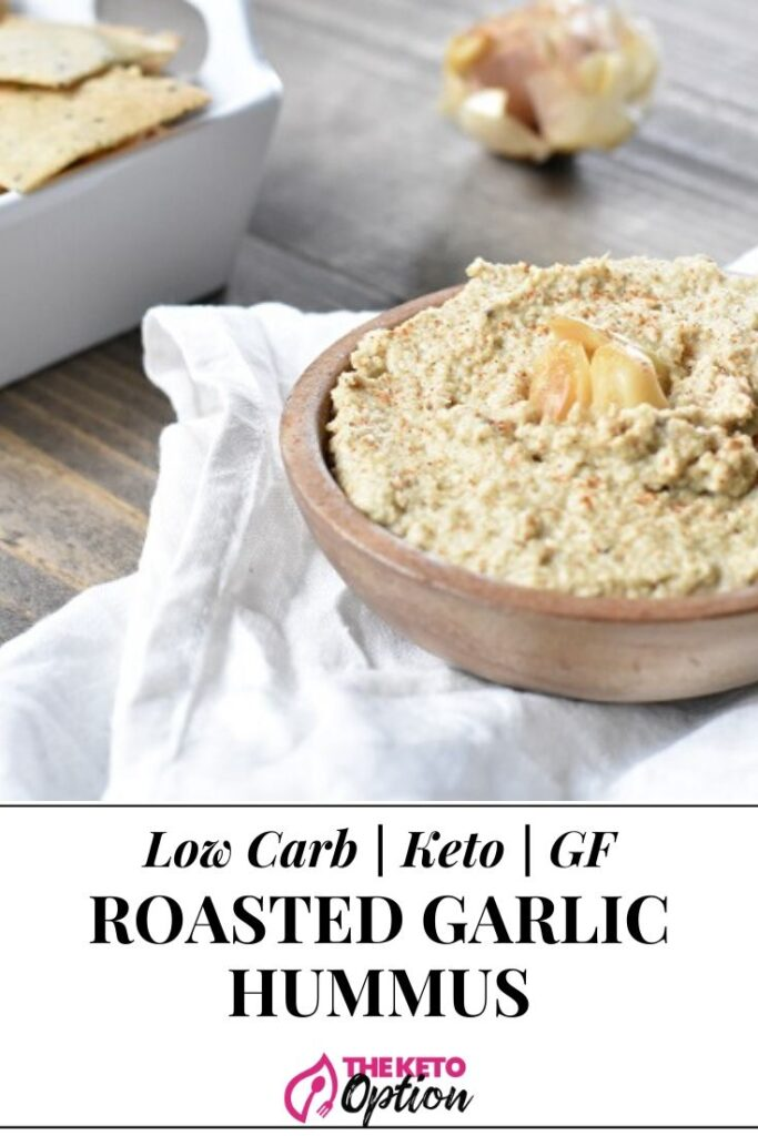 Roasted Garlic Keto Hummus