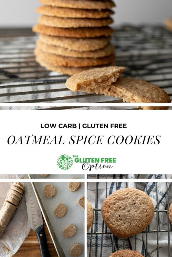 Low Carb Gluten Free Oatmeal Spice Cookies