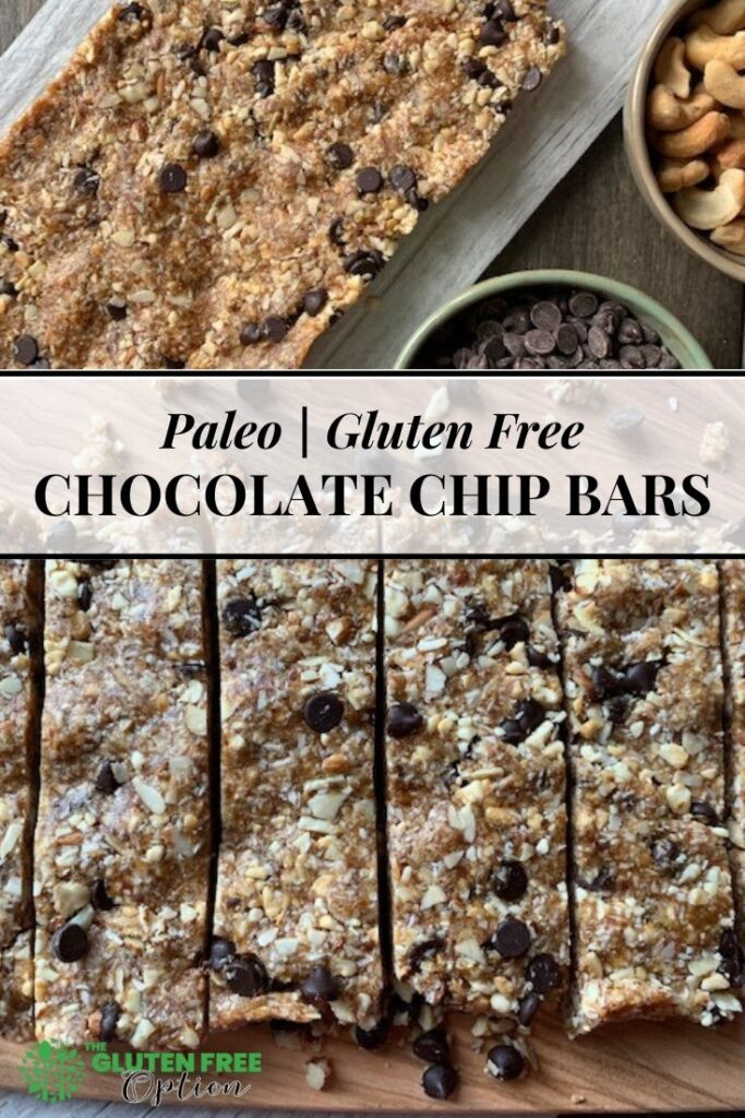 Paleo Gluten Free Chocolate Chip Granola Bars