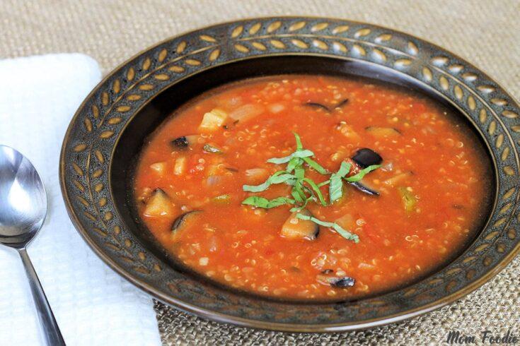 Ratatouille Soup with Quinoa: Low Calorie Soup Recipe