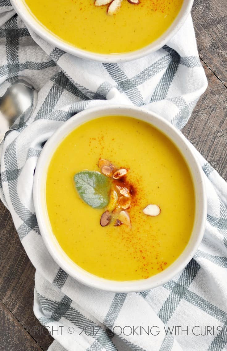 Instant Pot Butternut Squash and Apple Soup