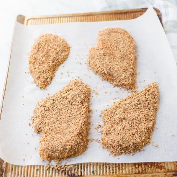 Keto Maple Pecan Crusted Chicken (Paleo)