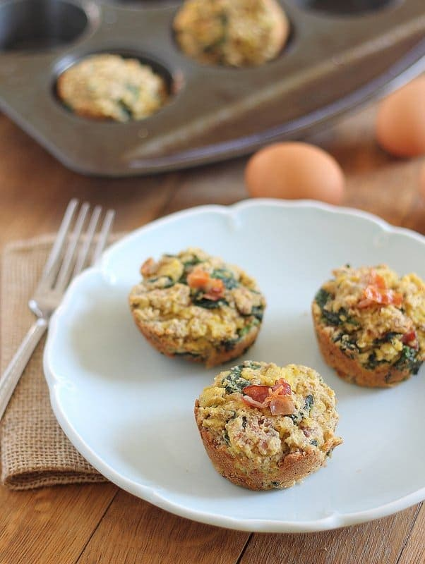 Bacon Spinach Breakfast Frittata Muffins