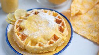 Cream Cheese Chaffle with Lemon Curd