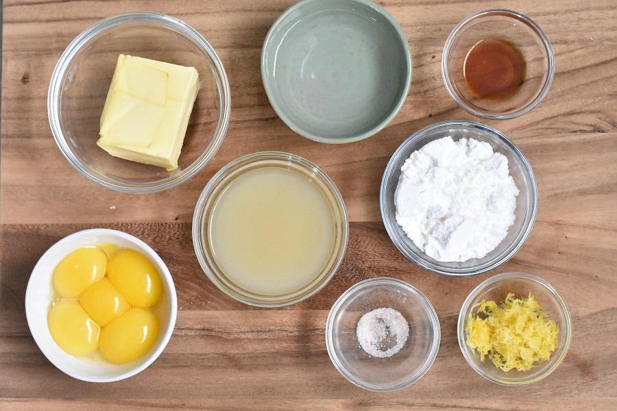 Keto Lemon Curd Ingredients