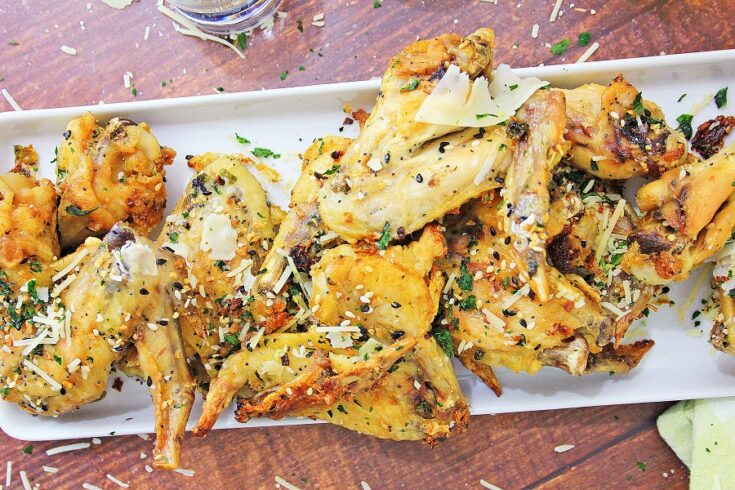 Keto Garlic Parmesan Wings