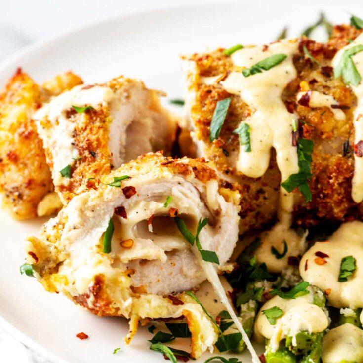 Keto Chicken Cordon Bleu - Oven or Air Fryer
