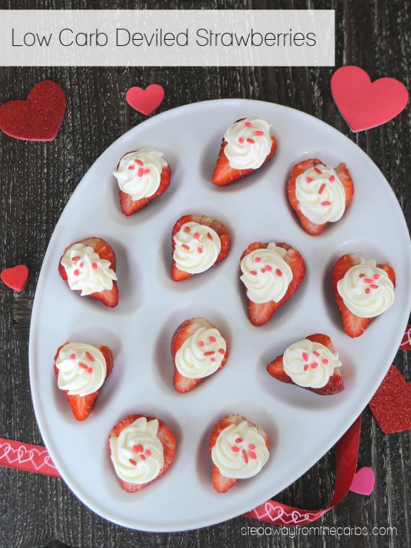 Low Carb Deviled Strawberries