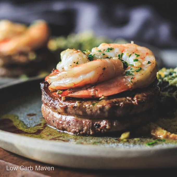 Steak and Shrimp Surf and Turf for Two