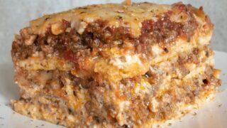 Deep Dish Keto Meat Lasagna