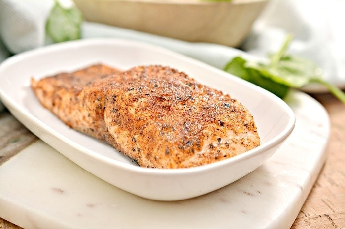 Air Fryer Keto Blackened Salmon