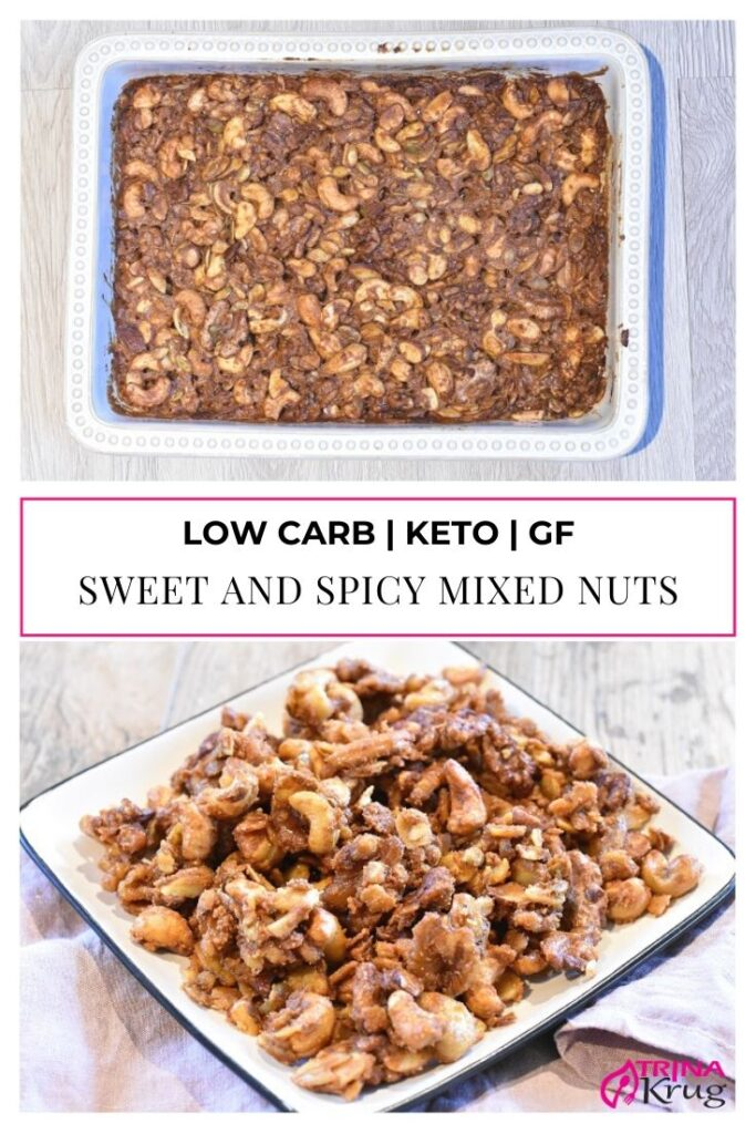 Low Carb Sweet and Spicy Mixed Nuts