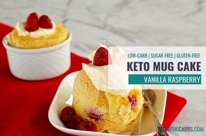 Keto Vanilla Berry Mug Cake