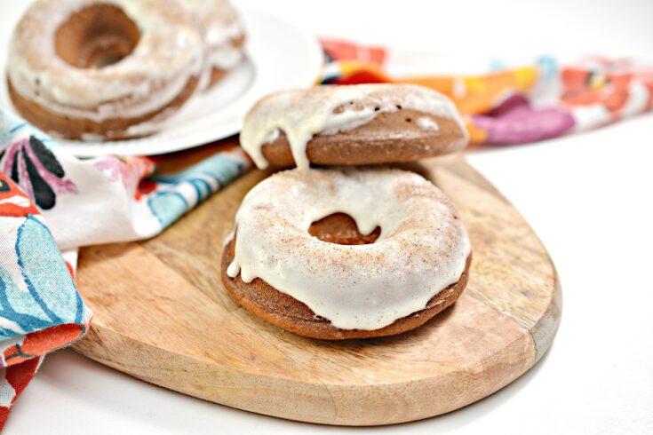 Keto Glazed Donuts with Cinnamon Sugar