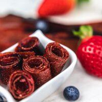 Homemade Keto Fruit Roll-Ups