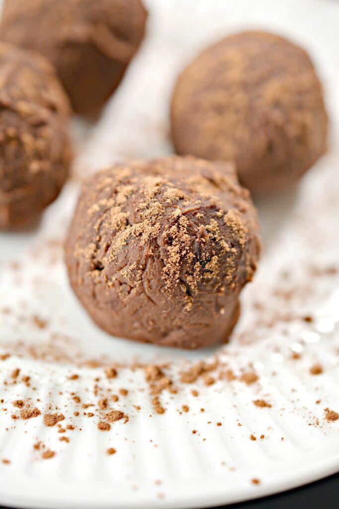 Chocolate Keto Truffles close up