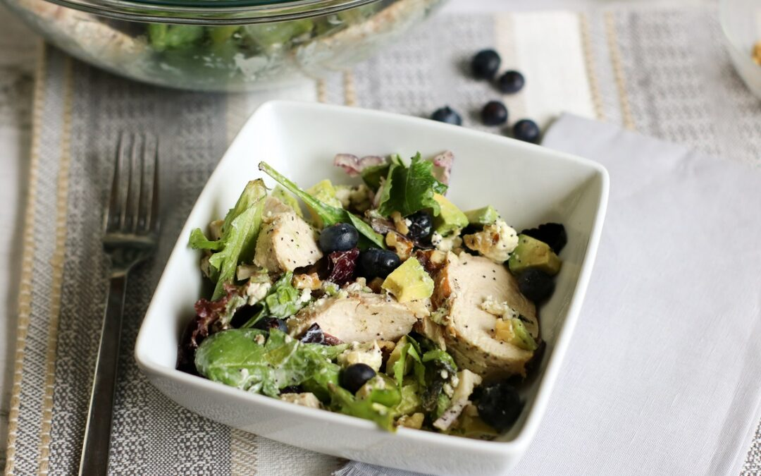 Keto Avocado Chicken Salad With Blueberries